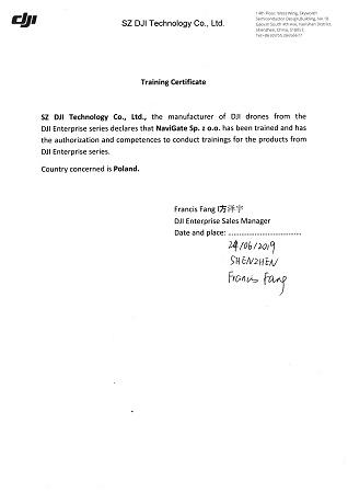 certyfikowane szkolenia dji enterprise
